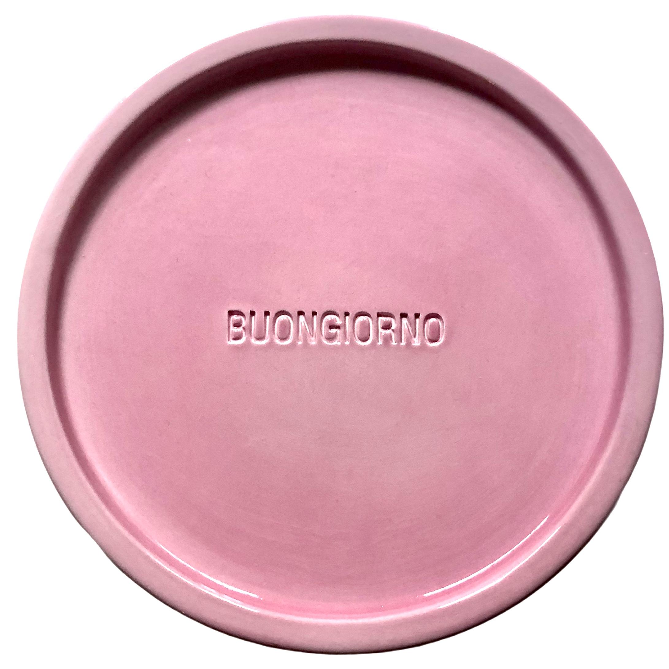 Buongiorno piatto rosa