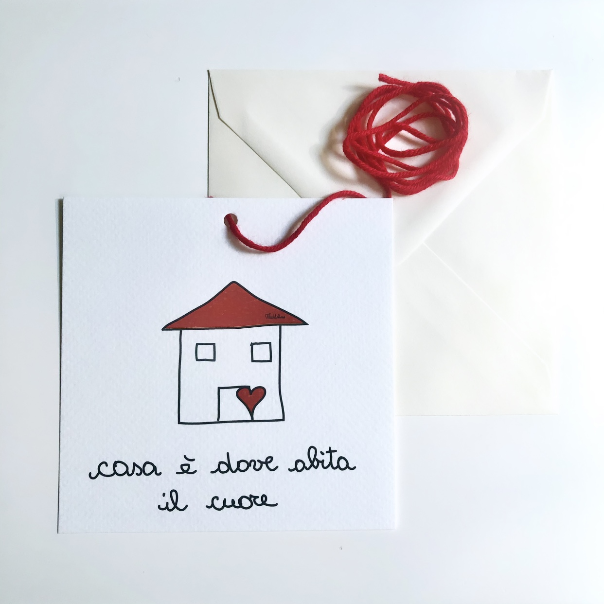 Casa è dove abita il cuore biglietto
