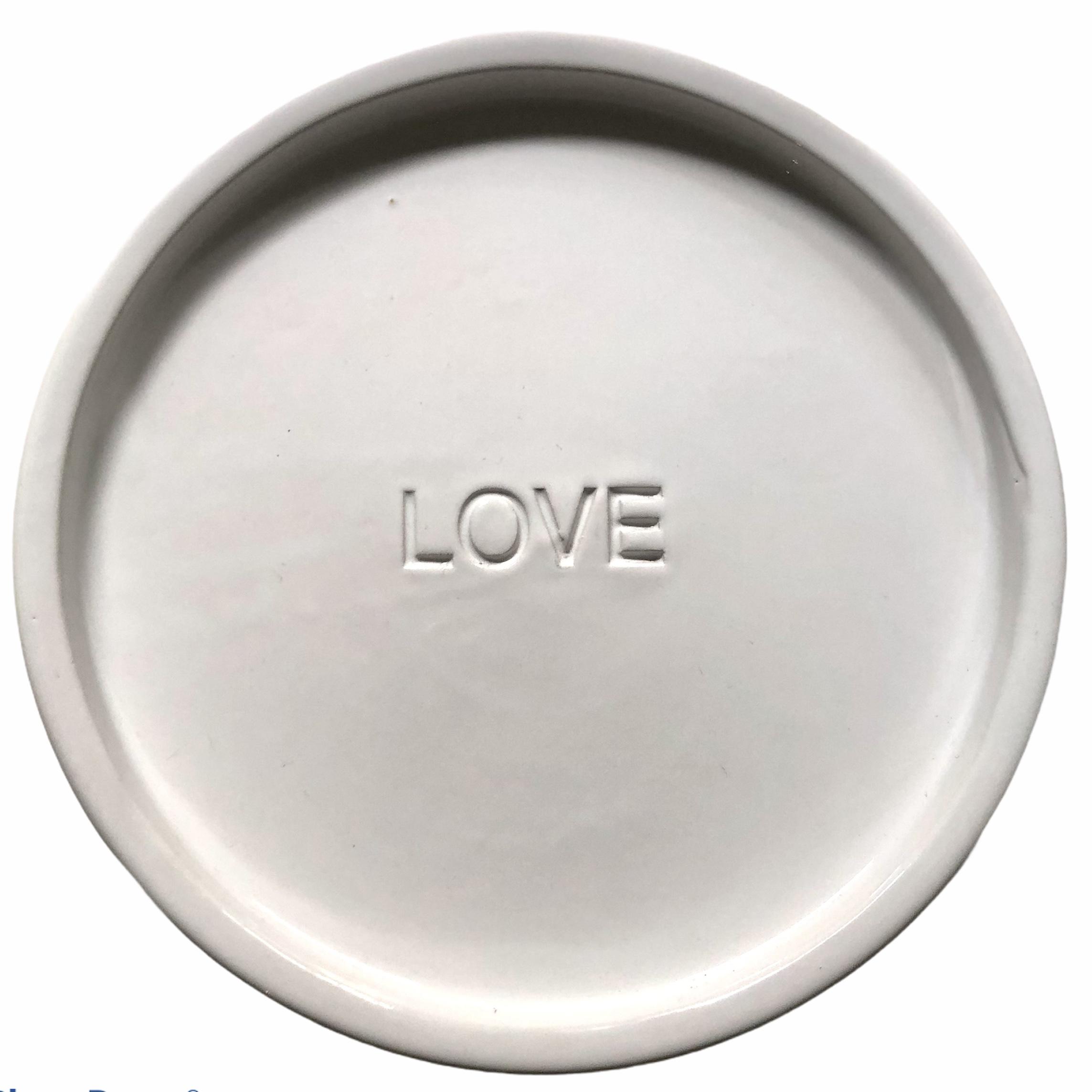 love piatto bianco